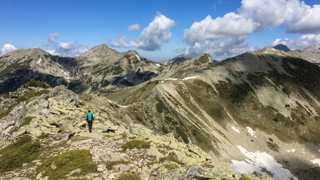 One of the main ridges of Pirin Mountain
