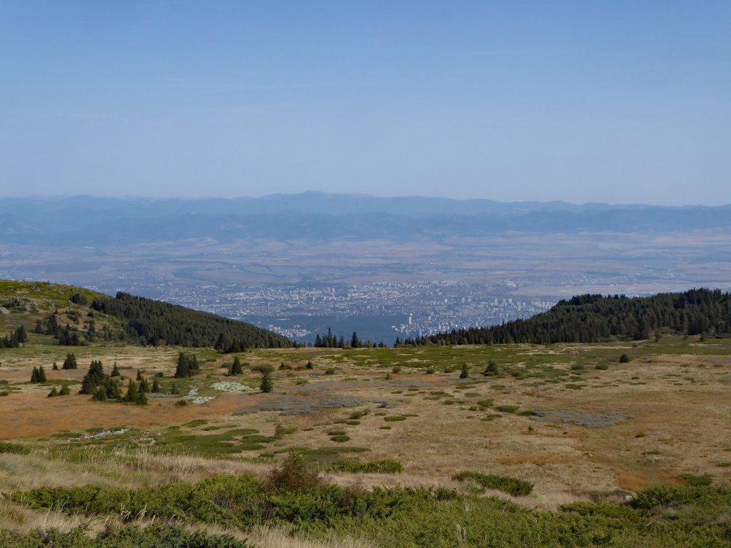 Sofia from the slopes of Vitosha Mountain